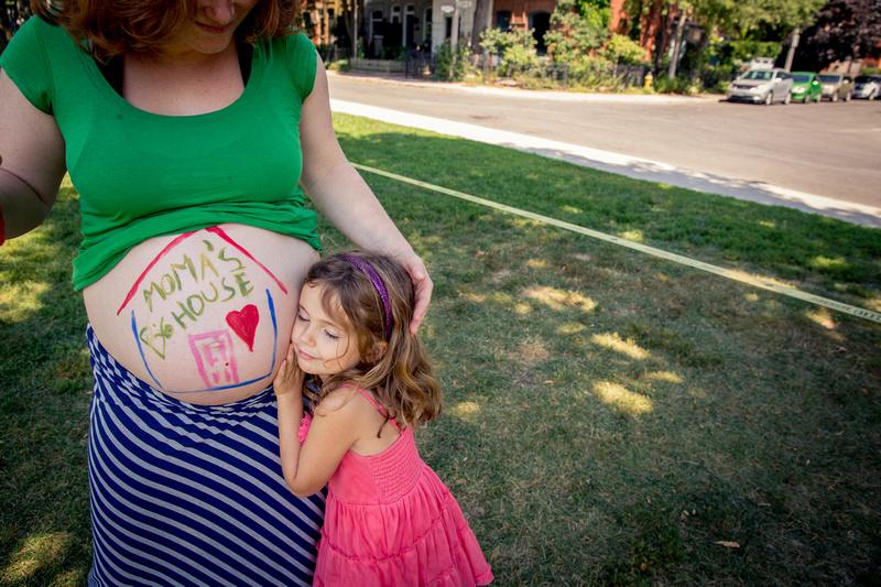 Girl hugging her cousin